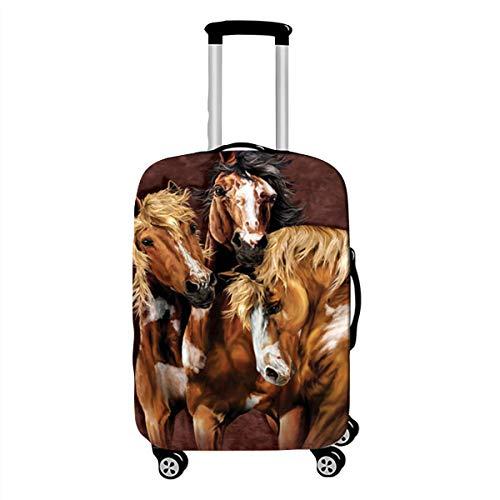 Elastica Proteggi Valigia Suitcase Luggage Cover, DOTBUY 3D Lavabile Viaggio Proteggi Bagagli Coprire Coperchio di Protezione Antipolvere Copertura (cavallo,L (26-28 pollici))