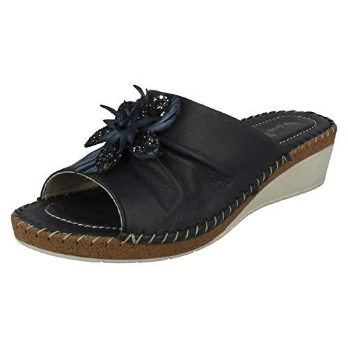 Van Dal Damen Sandalen mit Keilabsatz, Blau - marineblau - Größe: 41 EU