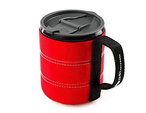 GSI Outdoor Isolierte Infinity Backpacker Tasse für Camping, robust und leicht, Rot, 502 ml