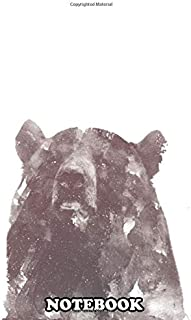 Notebook: Winter Bear , Journal for Writing, College Ruled Size 6