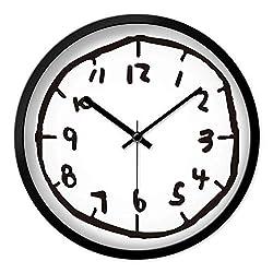 N /A Wall Clock Kids Wall Clock Modern Design Personality Digital Wall Clocks Mute Bedroom Creative Graffiti for Living Room Watch