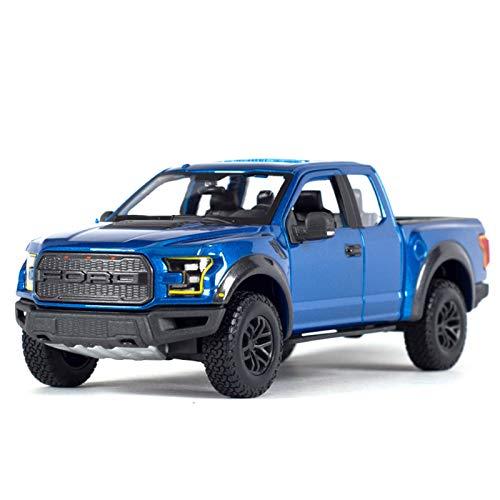 NMBE 1:24 para 2017 Ford F-150 Raptor Pickup Truck Simulación Estática Diecast Aleación Modelo Coche Modelo De Auto (Color : Blue, Size : B)