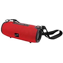powerful Supersonic SC-2325BT – Red Portable Bluetooth Speaker with True Wireless Technology (Red)