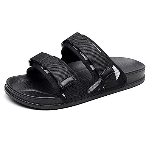 NJZYB Sandalias Informales Ligeras Para Hombre, Zapatillas De Calle Frescas, Chanclas De Verano, Cómodas, Antideslizantes, Zapatos De Playa Para Hombre (Color : A, Size : 43yards)