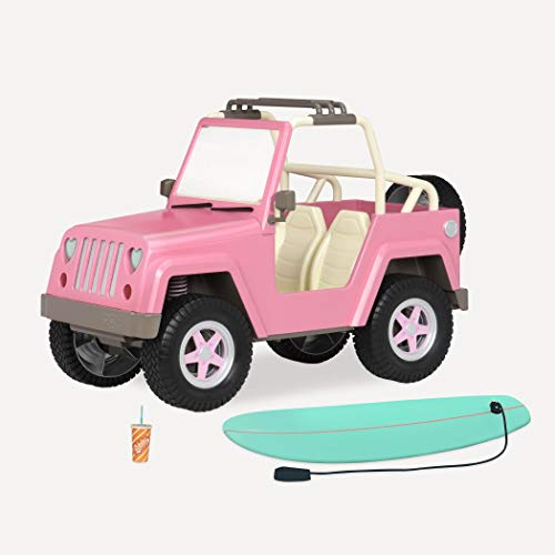 Our Generation by Battat- Og Off Roader 4x4 Electronic Jeep for 18' Dolls- Toys, Clothes & Accessories for Girls 3-Year-Old