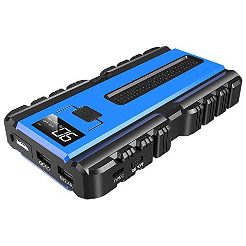 LBYDXD Arrancador de Coches, Arrancador portátil, 10000mAh Cargador de Emergencia portátil Batería Banco de energía Dispositivo, Motor de Gasolina de 6 litros y diésel de 4 litros