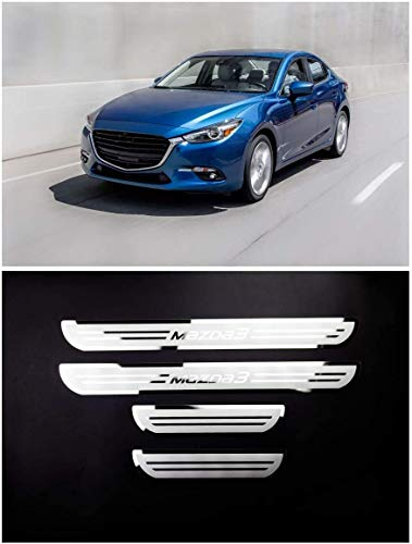 For Mazda 3 Axela Accessories 2014-2018 Steel Door Sill Scuff Plate Door Sill Protector Guard Thresold Cover Trim 4pcs YGAODWQ