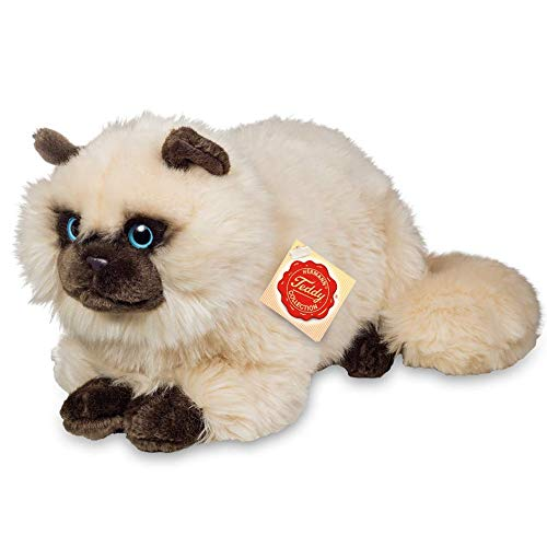Teddy Hermann 91826 Siam-Katze 36 cm, Kuscheltier, Plüschtier