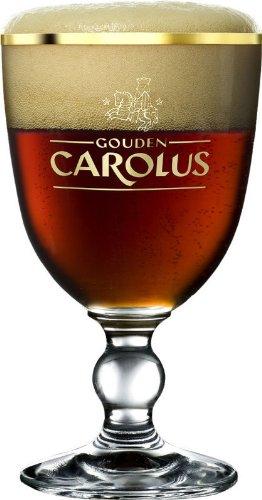 Goldener Carolus Belgische Kelch Bier Glas 0,25l–Set von 6