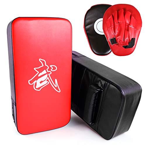 SEISSO Boxing Muay Thai Pads Taekwondo Kick Pad, Martial Arts Training Equipment, Boxing Training Pads for Boxing Dojo Battle Taekwondo Karate