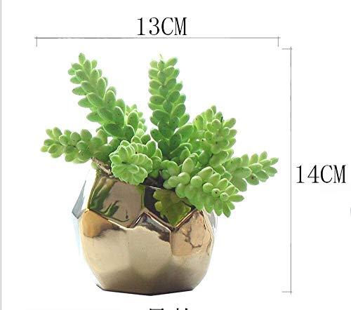 Artificiales flores artificiales en macetas Planta de la simulación pequeño bonsai vida en el hogar decoración de interiores sala de carnosas de la planta verde en maceta decoración de la oficina Ramo