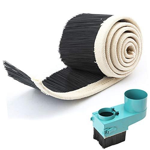 GRASSAIR Máquina de Grabado de enrutador CNC 70mm Carpintero Accesorio Cubierta de Polvo Cepillo Carpintería Durable Aspirador Husillo Motor Herramienta DIY,1m