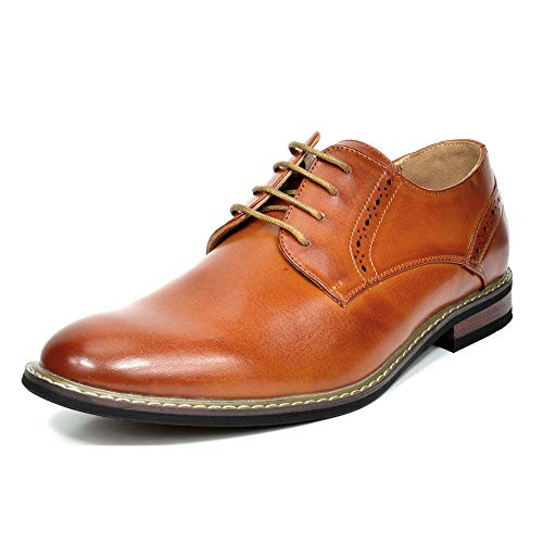 Bruno Marc Men's Prince-16 Brown Leather Lined Dress Oxfords Shoes Size 11 M US
