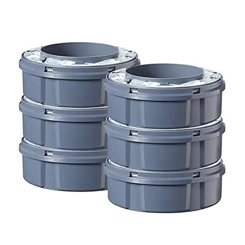 Tommee Tippee Nachfüllkassetten für Twist & Click Advanced Windelentsorgungssystem mit nachhaltig gewonnener, antibakterieller GREENFILM-Folie, 6er-Pack
