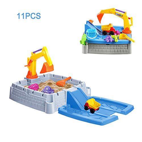 Water Zandbak Kinderen 2-In-1 Kinderen Spelen Zand Speelgoed Techniek Team, Binnen En Buiten Tuin Spelen Speelgoed Vrachtwagen Kraan