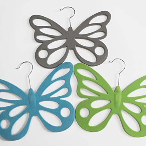 No Flocado Bufandas de la Bufanda del Marco Colgantes en Forma de Mariposa