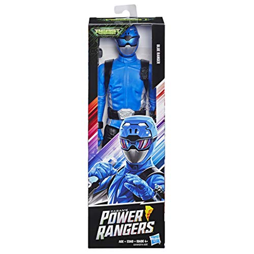 Power Rangers Beast Morphers Blauer Ranger, 30 cm große Actionfigur zur Power Rangers TV-Serie