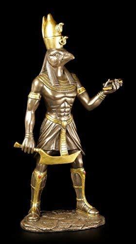 Horus Figur - Ägyptischer Krieger bronziert - Deko Ägypten Statue Gott Götter