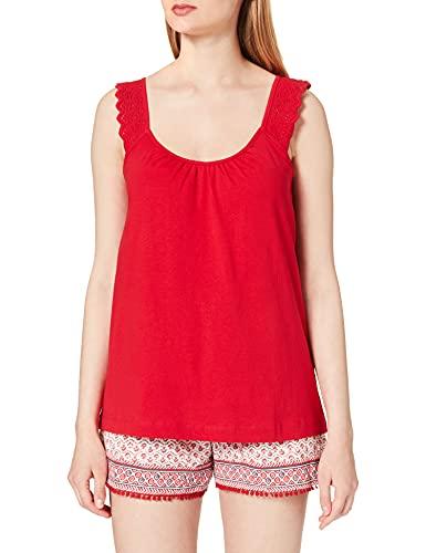 Women' Secret Pijama Corto Tirantes algodón orgánico, Rojo, XXL para Mujer