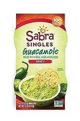 Sabra Singles, Spicy Guacamole, Plant-Based, Vegan, Gluten Free, 2oz Cups, 4ct