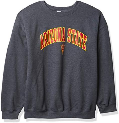 Elite Fan Shop NCAA Arizona State Sun Devils Mens Dark Heather Arch Crewneck Sweatshirt Arizona product image