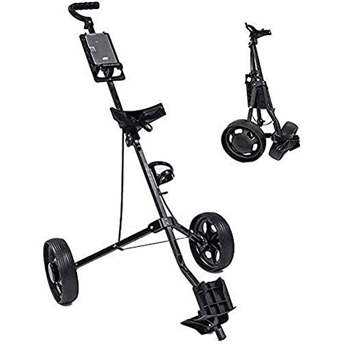 LRX Carro de Golf Junior 2 Ruedas Carro de Golf, Caddie de Golf con asa Regulable Ángulo, Cuadro de Mando y el pie del...