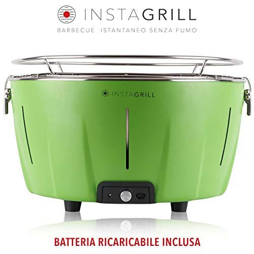 Clase Italia InstaGrill - Barbacoa de carbón sin humo, verde