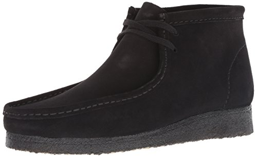 Clarks mens Wallabee Chukka Boot, Black Suede, 9.5 US
