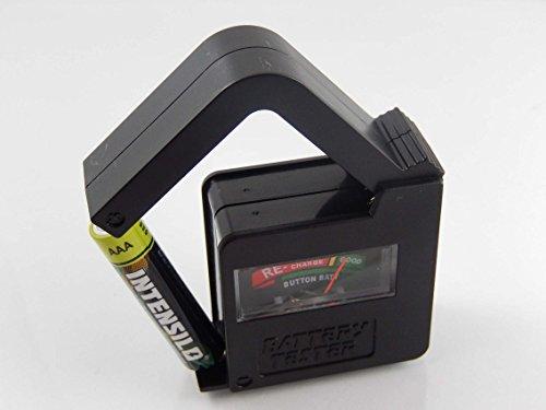 vhbw Premium Batterie-Testgerät Batterietester schwarz passend für AAAA, AAA, AA, Micro, Mignon, LR61, R3, R6, R03, R06, Sub C, Baby, R14, 9V-Block
