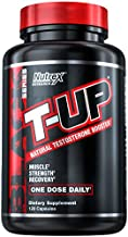 Nutrex Research T-Up Natural Testosterone Booster For Men Test Booster Muscle Enhancer and Libido Support | D-Aspartic Acid Supplement, Zinc, B6, B12 | 120 Capsules