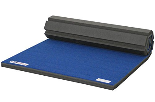 Incstores 4'x6'x1-3/8' Home Cheer Mats Durable Carpet Top Roll Out Practice Pad (Blue)