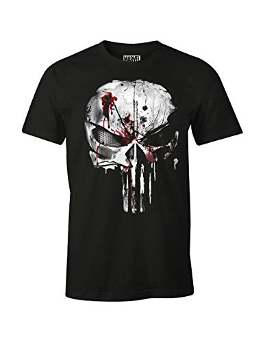 cotton division T-Shirt Punisher, Nero, L Uomo