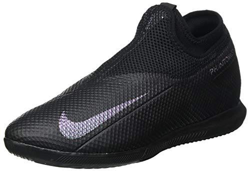 Nike Phantom Vision Academy Dynamic Fit IC, Botas de fútbol Unisex Adulto, Multicolor Black Black Volt 7, 44 EU