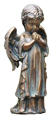 "Napco Bronze Spring Praying Angel Statue, 12.5"", As Shown -  17566"