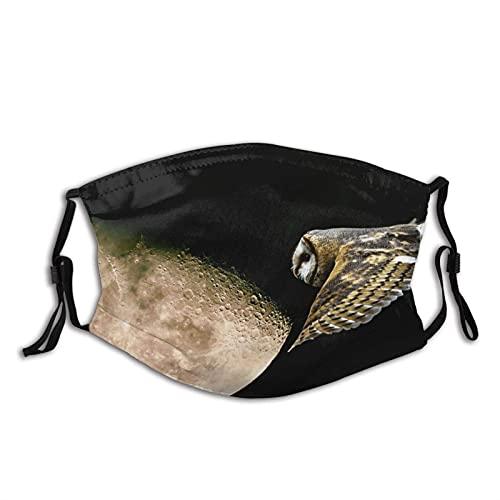 Máscara facial de moda cómoda Luna Night Owl Flight Sun-Proof Bandana Headwear para la pesca