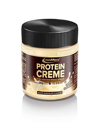 IronMaxx Protein Creme - 250g - Weiße Schokolade - Low Carb Brot-Aufstrich mit bis zu 30% Proteingehalt - ideal für eine kalorienbewusste und zuckerreduzierte Ernährung - Designed in Germany