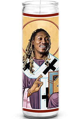 Rapper Celebrity Prayer Candle - Funny Saint Candle - 8 inch Glass Prayer Votive - 100% Handmade in USA - Novelty Celebrity Gift