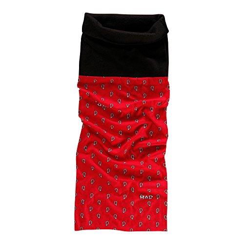 HAD FLEECE Echarpe multifonctionnel avec laine polaire PAISLEY ART RED / BLACK