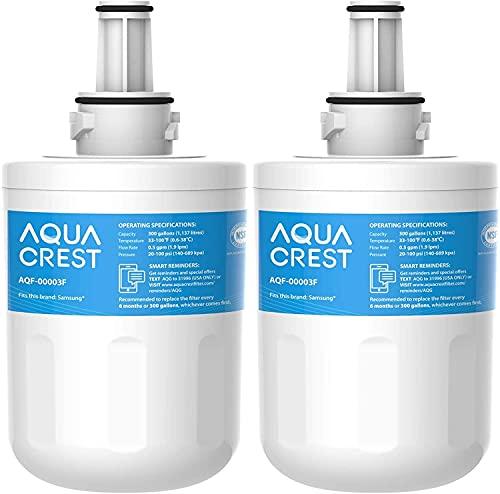 AQUA CREST DA29-00003F Fridge Water Filter, Compatible with Samsung Aqua Pure Plus DA29-00003F, HAFIN1, DA29-00003A, DA29-00003B, DA29-00003A-B, DA61-00159A, DA97-06317A (2)