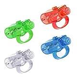 Tumao 100 Stück LED Finger Licht, Super Bright LED Finger Licht Fingerlicht für Täntze,...