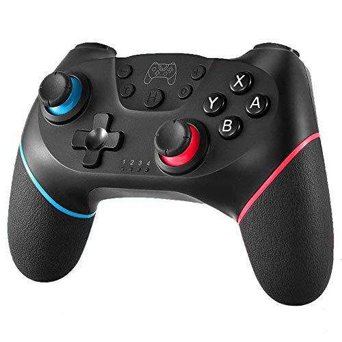 YUES Controller Wireless per Nintendo Switch PRO/Lite, Gamepad con Doppio Ammortizzatore/Motore di Vibrazione/Motore a 6 Assi Giroscopio/Turbo Regolabile/Joystick a Distanza,