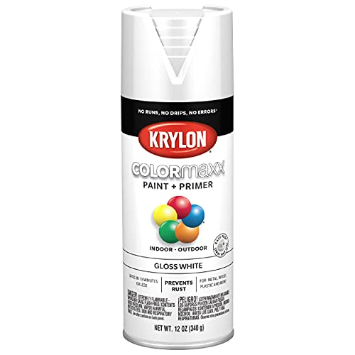 Krylon K05545007 COLORmaxx Spray Paint and Primer for Indoor/Outdoor Use, Gloss...
