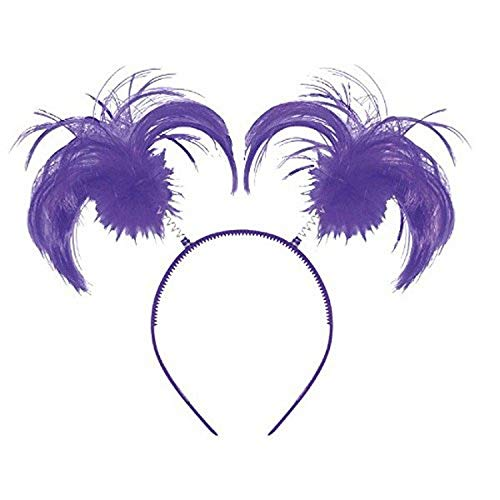 amscan 3994141 Feathers and Ponytails Headband Purple 8 x 5 1 Ct, One Size (399414.14)