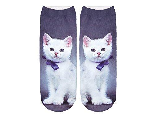 Unbekannt Socken bunt mit lustigen Motiven Print Socken Motivsocken Damen Herren ALSINO, Variante wählen:SO-L091 Katze