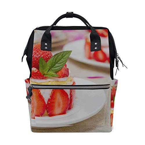 Riesige Erdbeerkuchen Cupcake Große Kapazität Windel Taschen Mummy Rucksack Multi Funktionen Wickeltasche Tasche Handtasche Für Kinder Babypflege Reise Täglichen Frauen