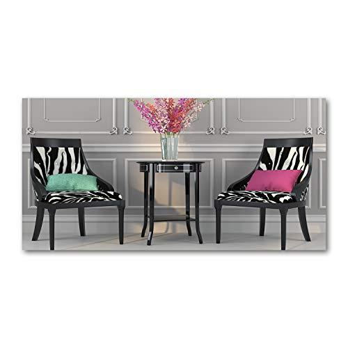 Tulup Acrylglas - Wandkunst - Bild auf Acrylglas Deko Wandbild hinter Kunststoff/Acrylglas Bild - Dekorative Wand für Küche & Wohnzimmer 120 x60 cm - Sonstige - Zwei Stühle - Mehrfarbig