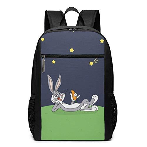 IUBBKI Bugs Bunny Mochila para computadora portátil, Mochila de Gran Capacidad, Mochila de Viaje para la Escuela y la Universidad de 17 Pulgadas