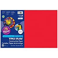 Tru-Ray PAC103432BN Construction Paper Festive Red 12 x 18 50 Sheets per Pack 5 Packs [並行輸入品]
