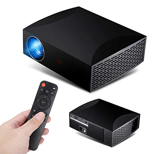 VBESTLIFE HD LED projector, 1080P 5500Lm home theater Smart projector 60