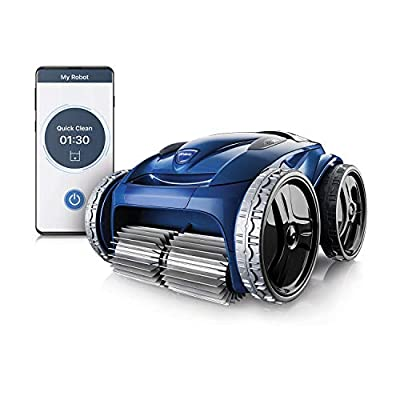 Polaris 9650IQ Sport Robotic Pool Vacuum Cleaner with WiFi App Remote Control, Extra Large Filter Canister, 70 Ft Cable with Caddy for In Ground Swimming Pool